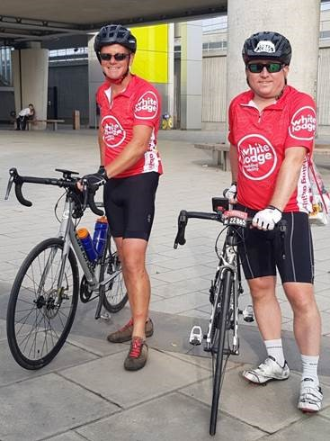 Will and Al London Prudential Ride 2019