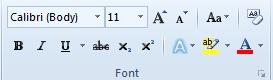 Change font in microsoft word