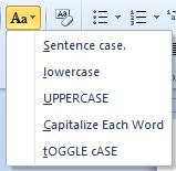 Toggle case in Microsoft Word